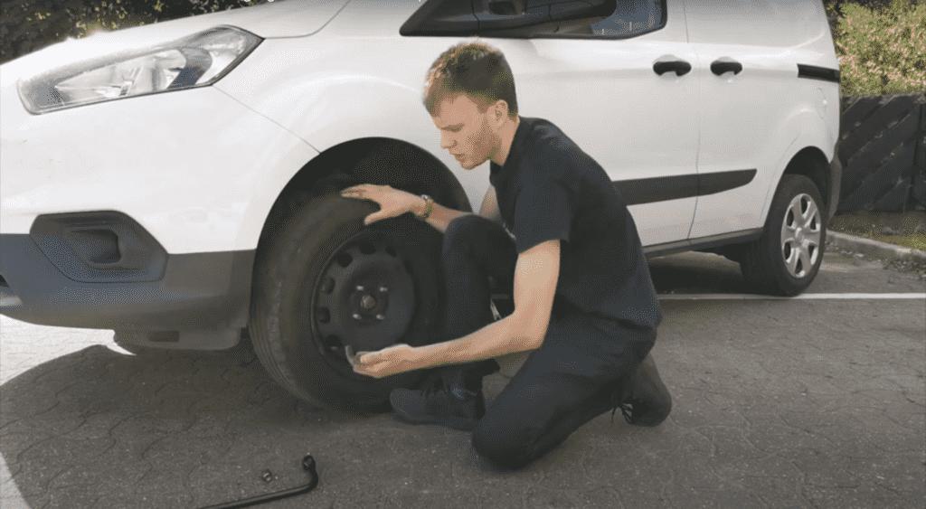 lining up wheel