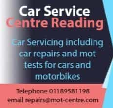 car service centre reading logo