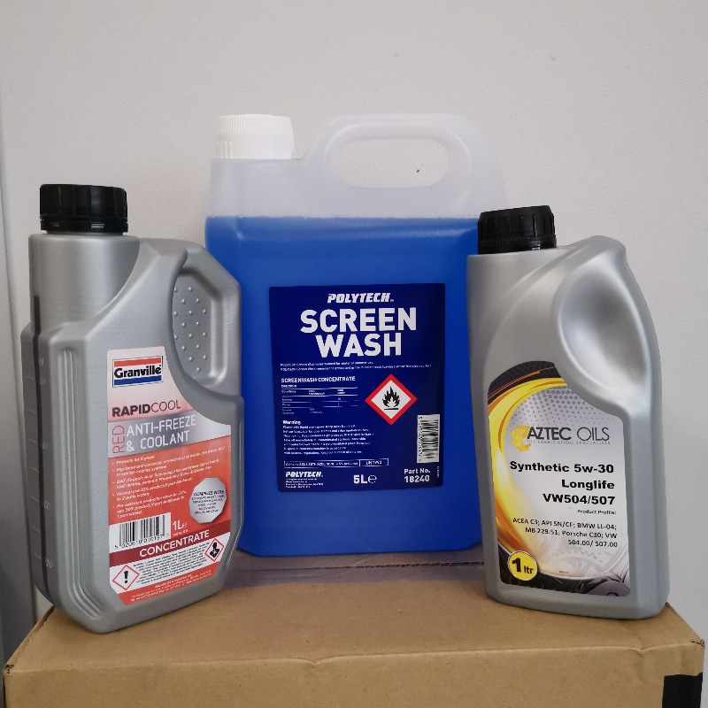 coolant, Oil & Screenwash