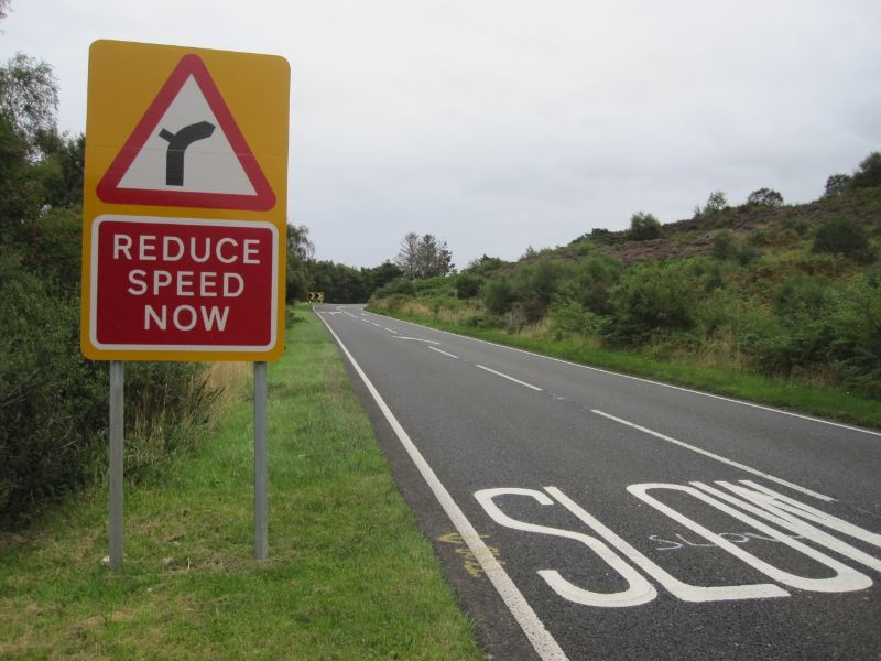 Reduce Speed Sign